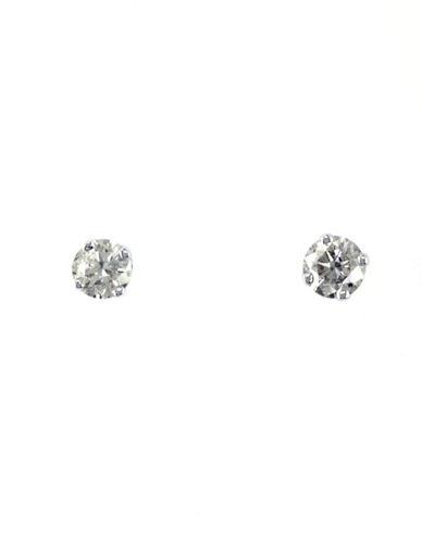 Effy 14K White Gold 0.25ct Diamond Earrings-DIAMOND-One Size