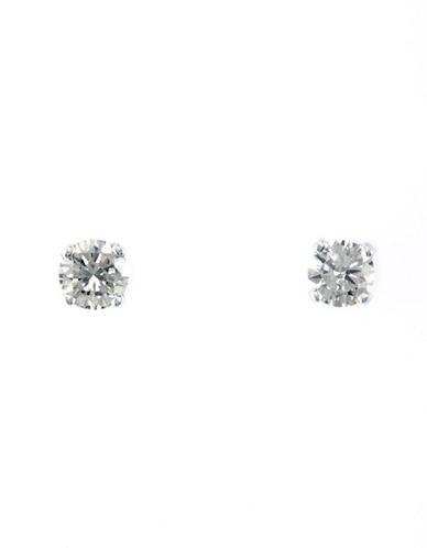 Effy 14K White Gold 0.33ct Diamond Earrings-DIAMOND-One Size