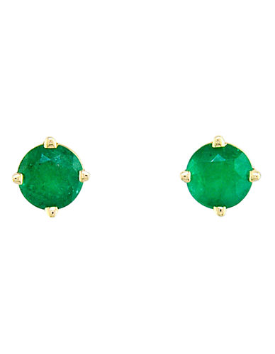 Effy 14K Yellow Gold Emerald Stud Earrings-EMERALD-One Size