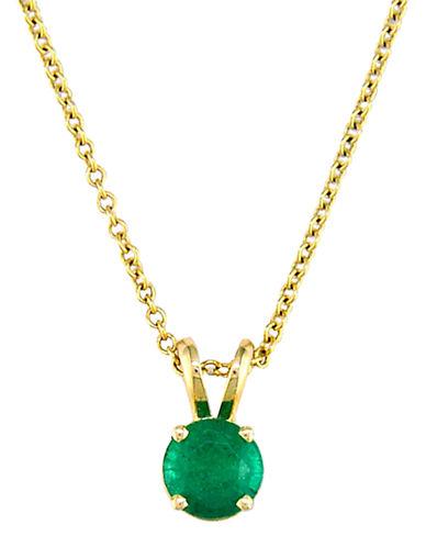 Effy 14K Yellow Gold Emerald Pendant-EMERALD-One Size