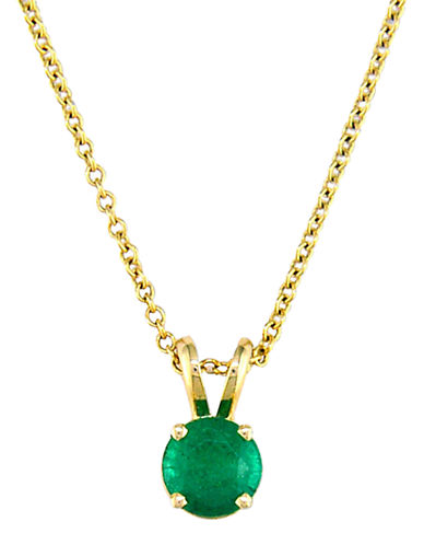 EFFY COLLECTION 14K Yellow Gold Emerald Pendant emerald