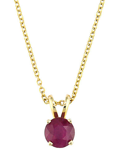 Effy 14K Yellow Gold Ruby Pendant-RUBY-One Size
