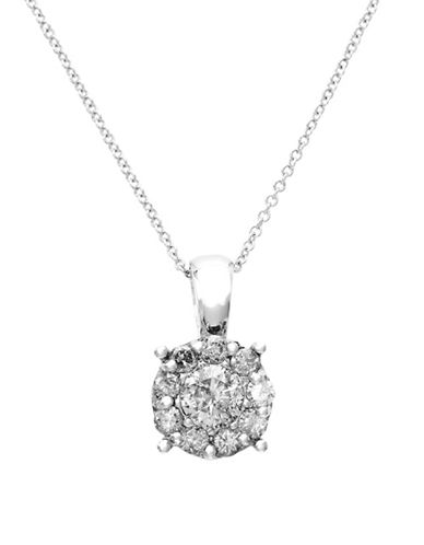 Effy 14K White Gold Diamond Pendant Necklace-WHITE GOLD-One Size