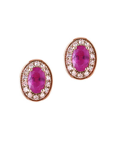 Effy 14k Rose Gold Ruby Earrings Box Set-RUBY-One Size