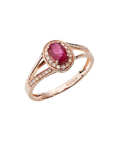 Effy 14k Rose Gold Ruby Ring-RUBY-7