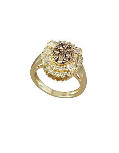 Effy 14K Yellow Gold 0.8TCW Diamond and Espresso Diamond Ring-ESPRESSO-7