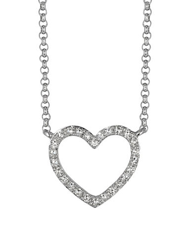 Effy 14K White Gold and 0.1 TCW Diamond Necklace-DIAMOND-One Size