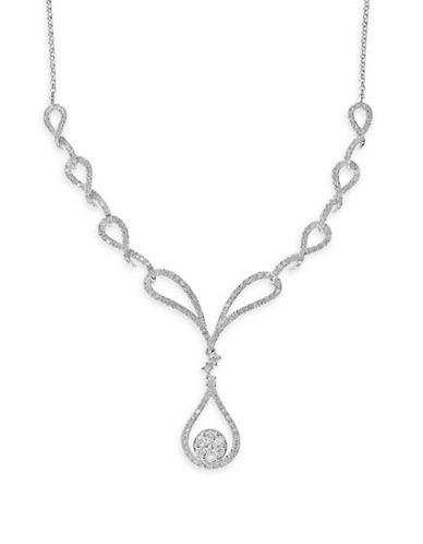Effy 14K White Gold 0.95Ct. Diamond Necklace-DIAMOND-One Size