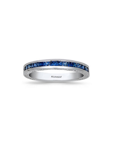 Effy Sapphire 18K White Gold Studded Band Ring-SAPPHIRE-7