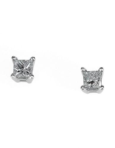 Effy 18K White Gold 025 ct Diamond Earrings-DIAMOND-One Size