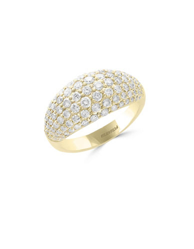 Effy 14K Yellow Gold Studded Ring with 1.37 TCW Diamonds-DIAMOND-7