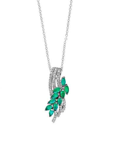 Effy Emerald and 0.18 TCW Diamond Pendant Necklace-EMERALD-One Size