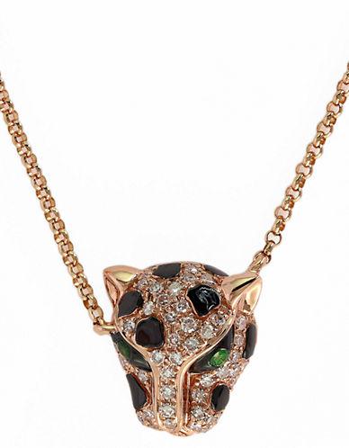 Effy 14k Rose Gold Diamond Tsavorite Necklace-DIAMOND-One Size