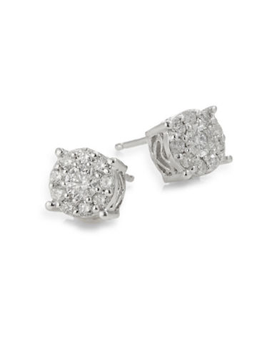 Effy 14K White Gold Diamond Stud Earrings Box Set-DIAMOND-One Size