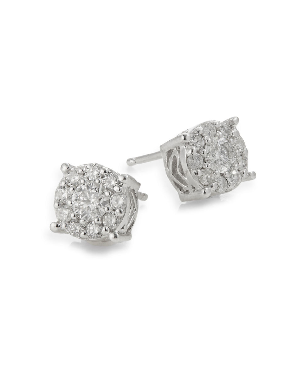 14K White Gold Diamond Stud Earrings Box Set | Hudson\'s Bay