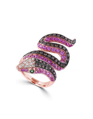 Effy 14 Karat Rose Gold Serpent Ring-MULTI-7