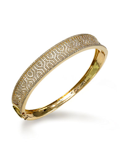 Effy 14K Yellow Gold Diamond Bangle-GOLD-One Size
