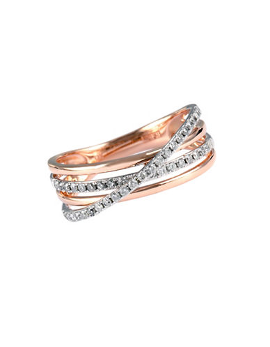 Effy 14 Kt. Rose Gold Layered Diamond Band-ROSE GOLD-7
