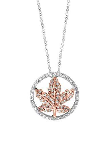 Effy 14K White Gold and Rose Gold Pendant Necklace with 0.31 TCW Diamonds-DIAMOND-One Size