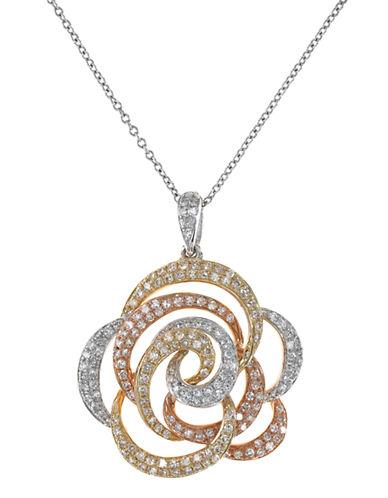 Effy 14K White-Yelllow-Pink Diamond Pendant-DIAMOND-One Size