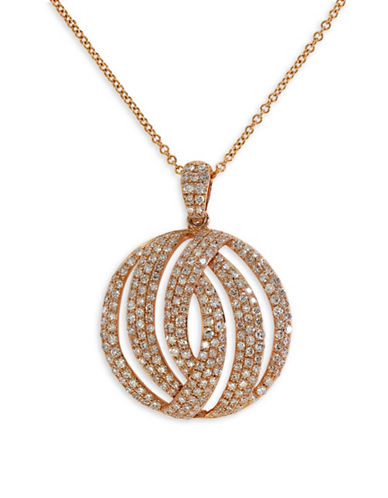 Effy 0.89 TCW Diamond, 14K Rose Gold Openwork Pendant Necklace-ROSE GOLD-One Size