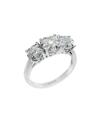 Effy 14K White Gold Diamond Engagement Ring-WHITE-7