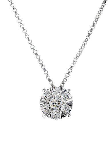 Effy 14K White Gold Diamond Necklace-WHITE-One Size