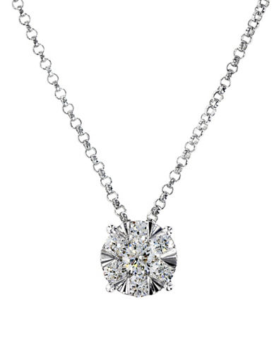 Effy 0.42 TCW Diamond Wrap Pendant, 14K White Gold Necklace-WHITE GOLD-One Size