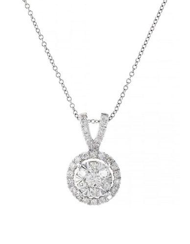 Effy 14K White Gold Diamond Pendant-SILVER-One Size