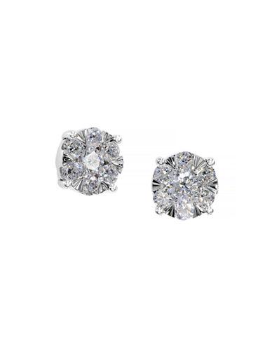 Effy 14K White Gold Diamond Earrings-SILVER-One Size