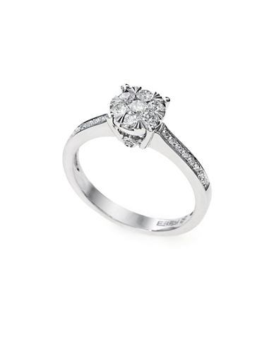 Effy 14K White Gold Diamond Engagement Ring-WHITE DIAMOND-7