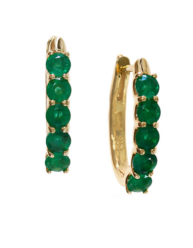 Effy 14K Yellow Gold 1.71Ct. T.W. Emerald Earrings-EMERALD-One Size