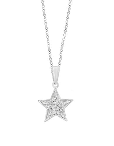 Effy 14K White Gold Star Pendant Necklace with 0.13 TCW Diamond-WHITE GOLD-One Size