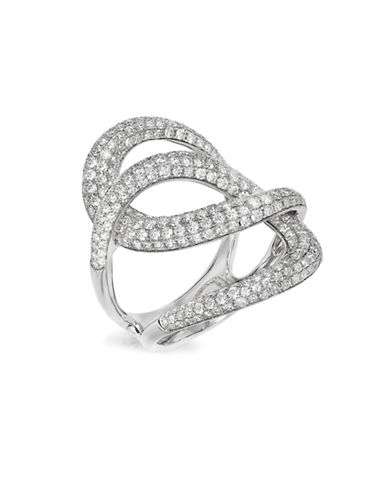 Effy 1.73 TCW Diamonds and 14K White Gold Interlocked Ring-WHITE-7