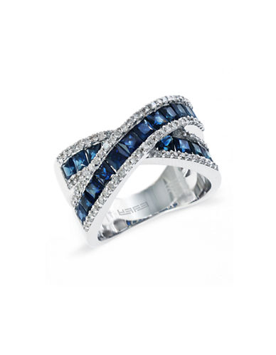 Effy 14K White Gold 0.41Ct. T.W. Diamond and 2.24Ct. Sapphire Ring-SAPPHIRE-7