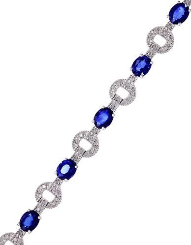 Effy 14K White Gold Natural Diffused Ceylon Sapphire Tennis Bracelet with 0.34TCW Diamonds-SAPPHIRE-One Size