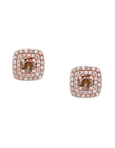 Effy 14K Rose Gold Espresso Diamond Earrings-DIAMOND-One Size