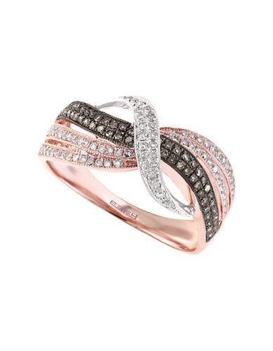 Effy 14K White and Rose Gold Espresso Diamond Ring-DIAMOND-7
