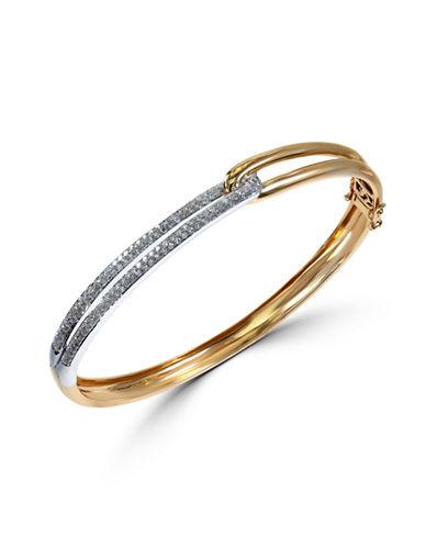 Effy 14K White and Yellow Gold 0.6ct. Diamond Bangle-TWO TONE-One Size