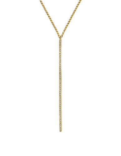 Effy 0.14 TCW Diamond 14K Yellow Gold Linear Drop Necklace-DIAMOND-One Size