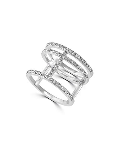 Effy 0.47 TCW Diamond 14K White Gold Cut-Out Ring-DIAMOND-7