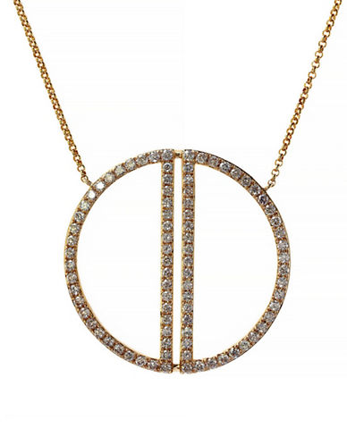 Effy 14K Yellow Gold Necklace with 0.97 Total Carat Weight Diamonds-DIAMOND-One Size