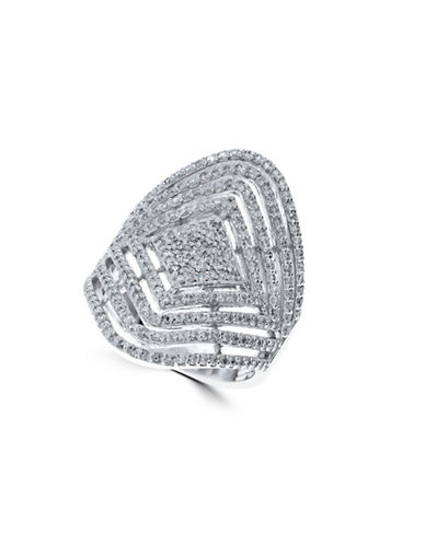 Effy 1.16 TCW Diamond, 14K White Gold Geometric Ring-DIAMOND-7