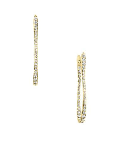 Effy 18k Yellow Gold 1TCW Diamond Hoop Earrings-GOLD-One Size