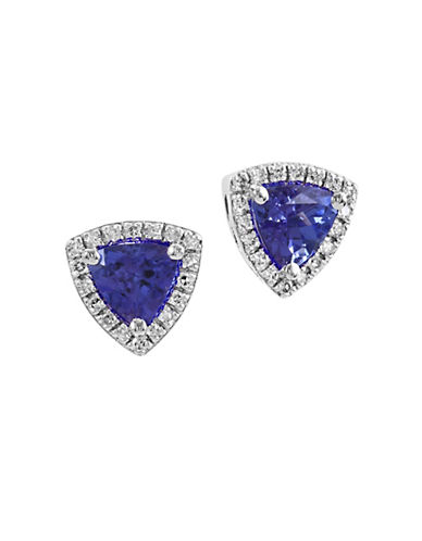 Effy 0.14 TCW Diamond and Tanzanite 14K White Gold Earrings-TANZANITE-One Size