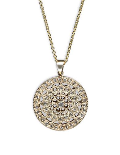 Effy 14K Yellow Gold Pendant Necklace with 0.25 TCW Diamonds-DIAMOND-One Size