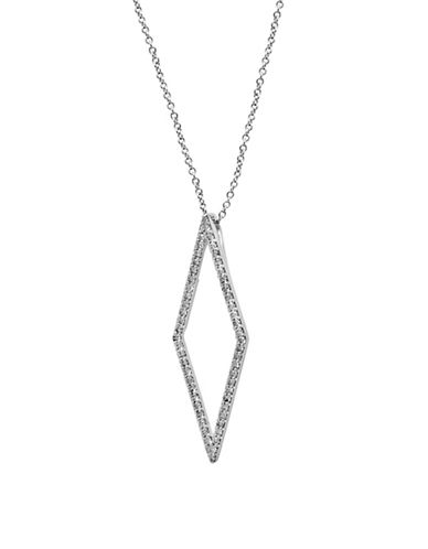 Effy 0.53 TCW Diamond 14K White Gold Pendant Necklace-DIAMOND-One Size