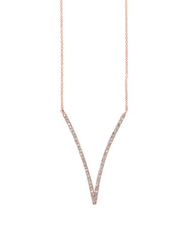 Effy 14K Rose Gold and 0.28 TCW Diamond Necklace-DIAMOND-One Size