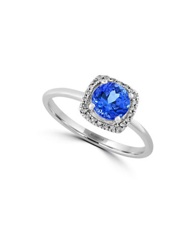 Effy 0.07 TCW Diamond and Tanzanite 14K White Gold Ring-TANZANITE-7