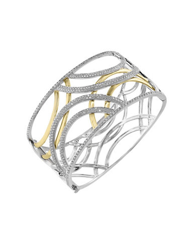 Effy 3.08 Total Carat Weight Diamond with White and Yellow Bangle-DIAMOND-One Size